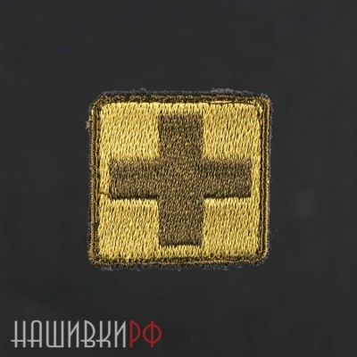 Нашивка медицинский крест, олива