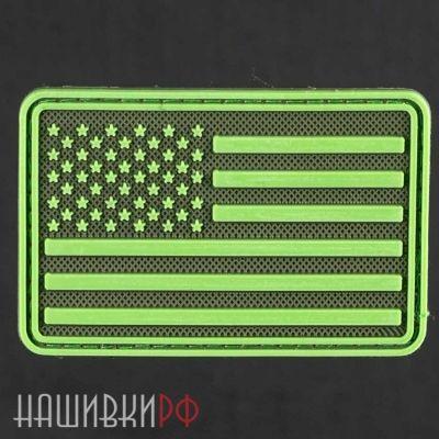 Нашивка флаг США в коричневых тонах