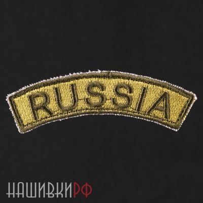 Зеленая изогнутая нашивка Россия