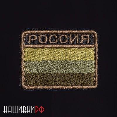Нашивка Россия флаг цвета мультикам