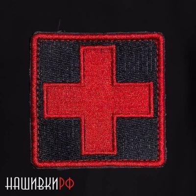 Шеврон на липучке крест медика
