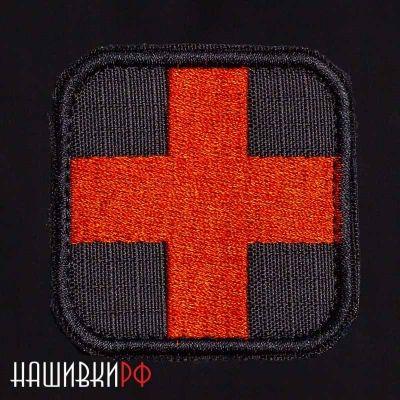 Нашивка красный крест медика