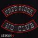 Нашивки no club / free rider
