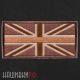 Нашивка флаг Англии в коричневых тонах