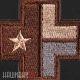 Нашивка крест с техаским флагом