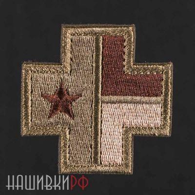 Нашивка флаг техаса в кресте