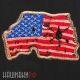 Нашивка флаг США по форме территории Америки