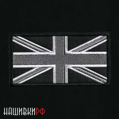 Нашивка флаг Англии в темных тонах