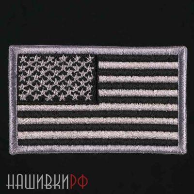 Черно серая нашивка флаг США