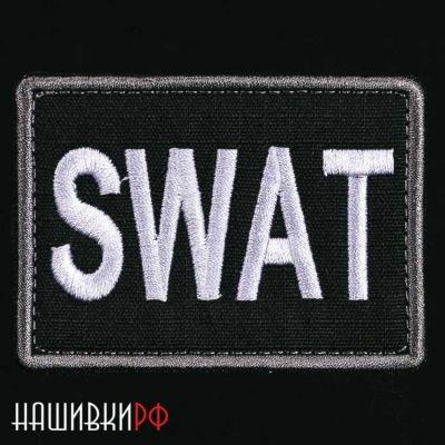 Черная нашивка SWAT