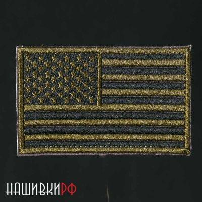 Нашивка флаг США в хаки