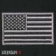 Нашивка флаг США в серых тонах