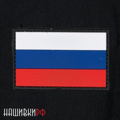 Резиновая нашивка флаг России купить в СПб