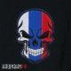 Нашивка болельщика, череп в расцветке флага России купить