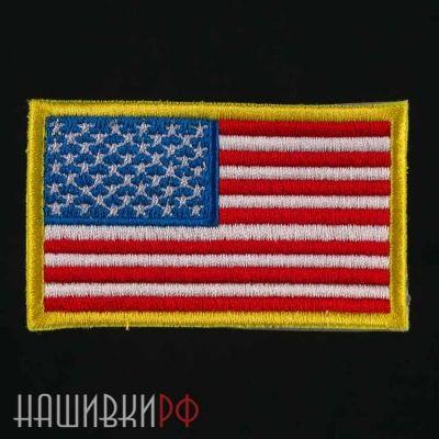 Нашивка флаг США в разных тонах
