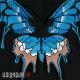 Нашивка на спину синяя бабочка