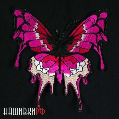 Большая нашивка бабочка для куртки