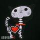 Нашивка кот скелетон