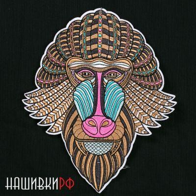 Большая нашивка голова бабуина