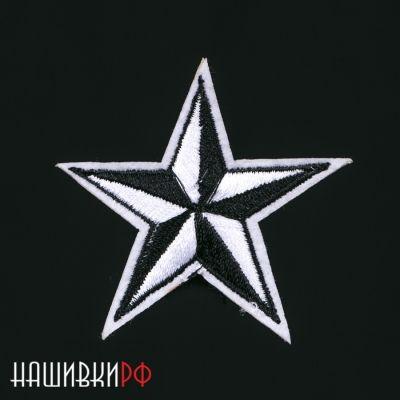 Нашивка черно-белая звезда