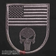Нашивка Punisher на флаге США