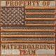Нашивка флаг США в защитных тонах