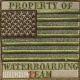 Нашивка флаг США в зетеных тонах