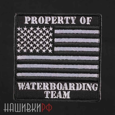 Нашивка флаг США в черных тонах