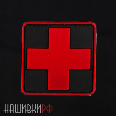 Нашивка крест медика