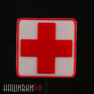 Нашивка крест поливого медика