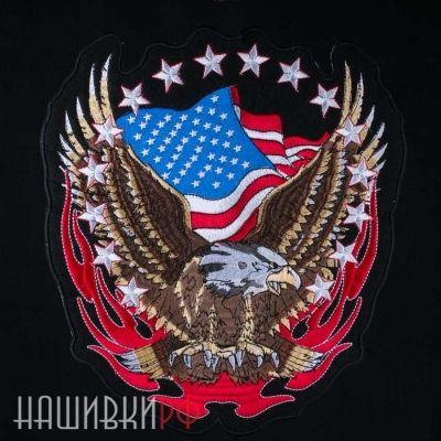 Нашивка на спину орел на американском флаге