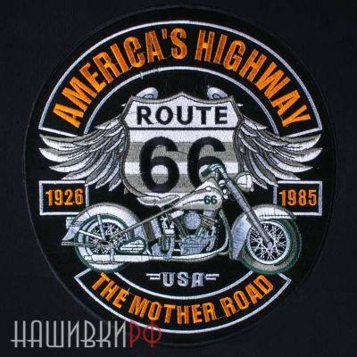 Нашивка на спину Route 66