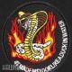 Нашивка кобра в огне