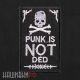 Нашивка punk череп