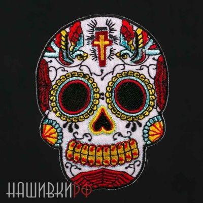 Нашивка мексиканский череп