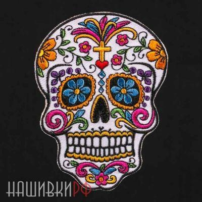 Нашивка мексиканский сахарный череп Санта Муэртэ