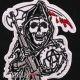 Нашивка смерть анархия