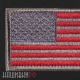 Нашивка флаг США в серо-красном тоне